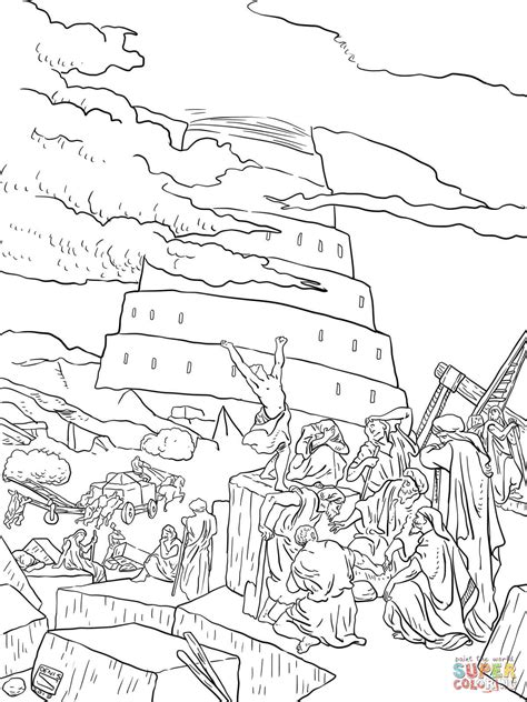 301 Moved Permanently Tower Of Babel Coloring Page