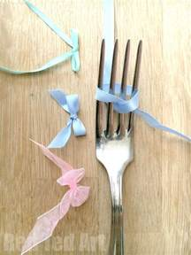 how to tie a ribbon how to tie a ribbon bow using a fork and easy and