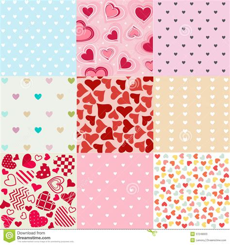 valentines day patterns seamless patterns valentines day stock photos image