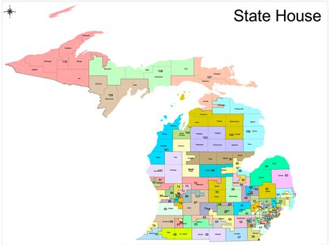 political map of michigan michigan senate districts map swimnova