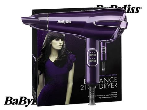 Babyliss Elegance 2100w Hair Dryer babyliss elegance hair dryer 2100w metallic purple frizz free ceramic technology 5560ju