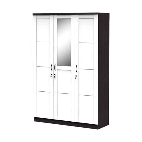 Lemari Pakaian Baju 3 Pintu Cermin Hitam 316 P jual best furniture simply lemari pakaian 3 pintu putih hitam 120 x 180 harga