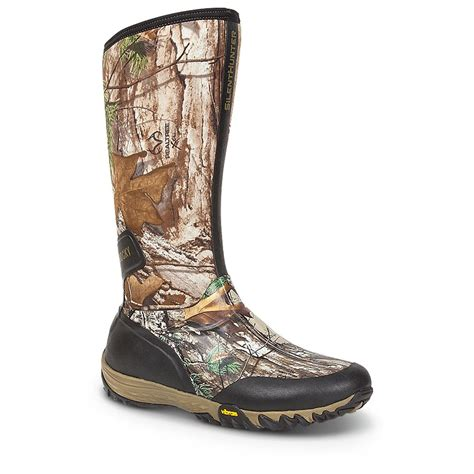 Boots Camo rocky 174 16 quot silenthunter waterproof 600 gram boots realtree xtra 174 green camo 623643