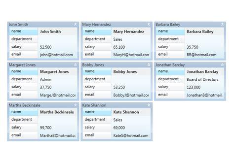 xaml card layout custom card style data cards wpf