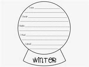 Break Letter With Snow freebie 5 senses poem snow globe template literacy spark
