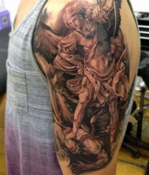 tr st tattoos ideas st michael designs for males