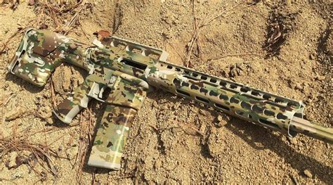 spray painting your rifle complete camo for your rifle with diy spray paint and