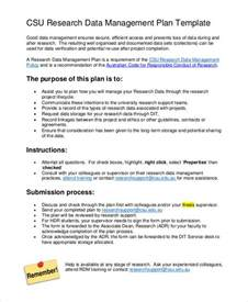Data Management Plan Template 7 data management plan templates free sle exle