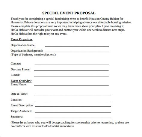 proposal format event management event proposal sle pdf blogslovers