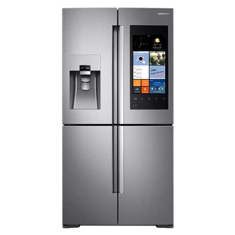 With Refrigerator shop samsung family hub 22 1 cu ft 4 door counter depth door refrigerator with single