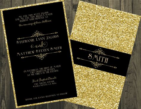 gold wedding cards templates black and gold wedding invitation glitter wedding