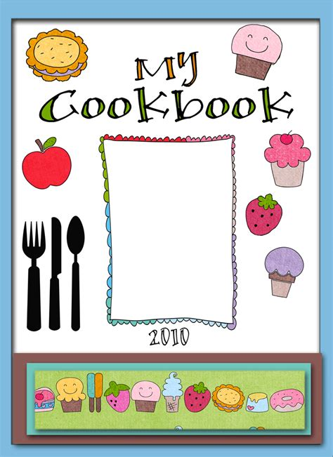 cookbook covers template free printable cookbook cover templates search