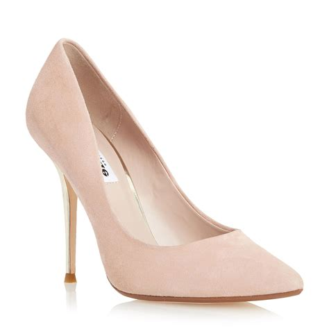 dune bonni high pointed court shoes in pink blush lyst