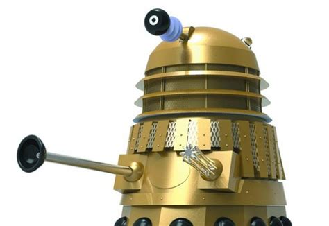 Dr Gold Day doctor who day of the daleks gold edition dalek statue