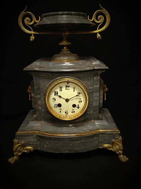 interesting clocks interesting french grey marble mantel clock with an urn