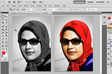 photo retouching tutorial photoshop cs5 convert black and white photo to color using photoshop cs5