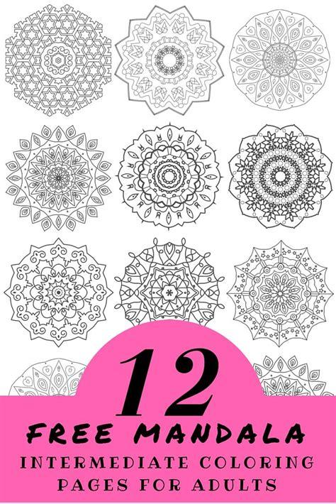 intermediate mandala coloring pages 198 best mandalas images on mandala drawing