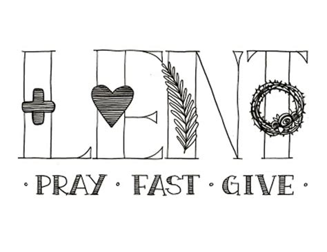 lent coloring pages printable look to him and be radiant lent pray fast give printable
