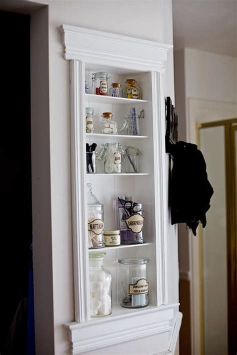 built in shelves in bathroom 26 simple bathroom wall storage ideas shelterness