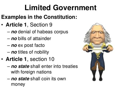 article 1 section 10 of the constitution five basic principles of american government