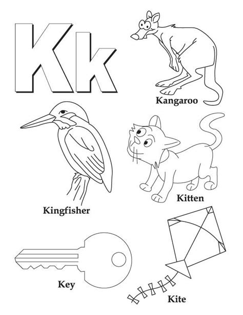 9 pics of letter k coloring pages for preschoolers