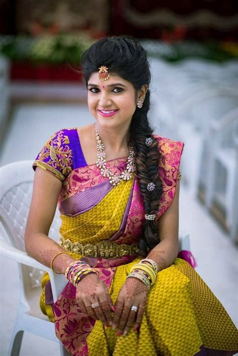 bridal hairstyles for silk saree best hairstyles for traditional wedding pattu sarees