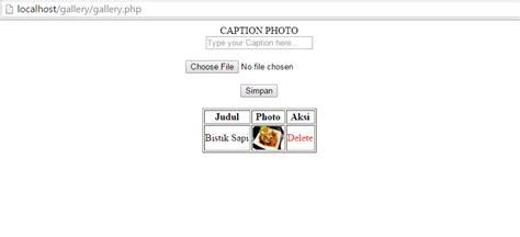 membuat database website dinamis cara membuat web dinamis sederhana membuat gallery photo