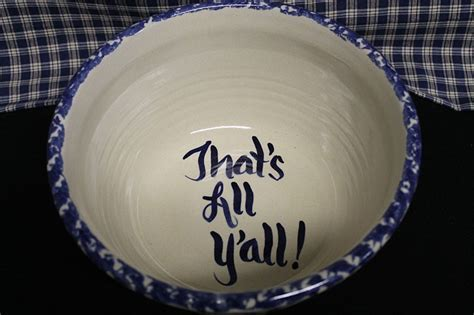 Old Fashioned USA Stoneware Pottery Popcorn Bowl