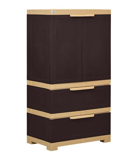 Two Door Cabinet by Nilkamal Freedom 2 Door Cabinet With 2 Drawers Brown