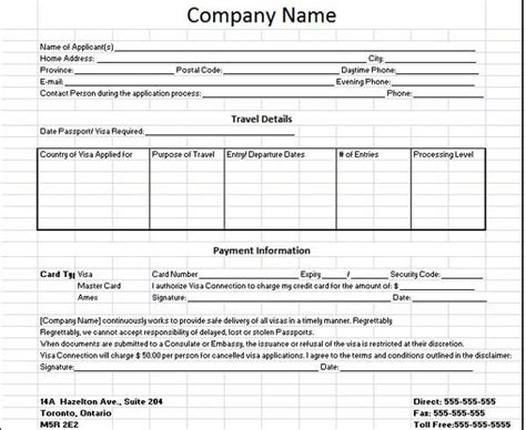 business customer client information sheet format