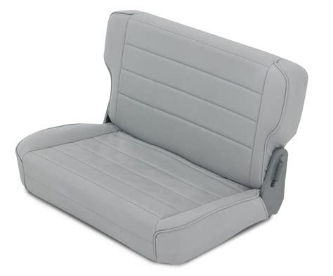 jeep seats fold smittybilt rear fold tumble seat for 97 02 jeep