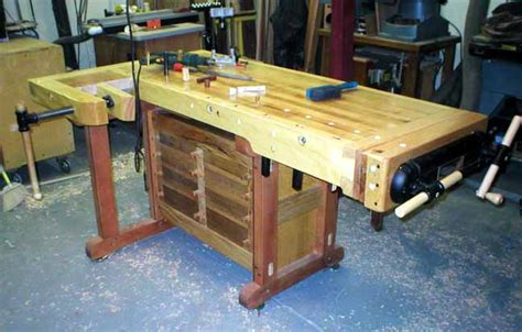 cabinet makers bench plans charlie b s making a cabinet maker s bench index