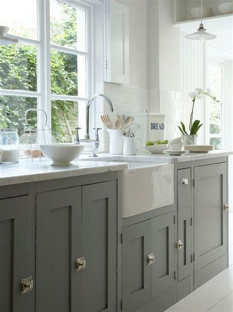 grey cabinets rosa beltran design affordable brass cabinet hardware