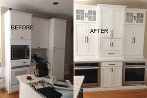 Glazing Kitchen Cabinets Before And After by The Cabinet Kitchen Design And Cabinets Cary And