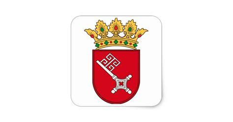 Aufkleber Bremen Druckerei by Bremer Wappen Quadrat Aufkleber Zazzle