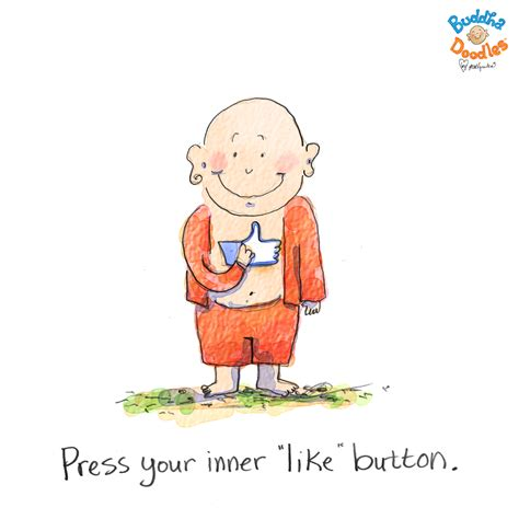 like doodle press your inner like button today s buddha doodle huffpost