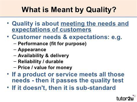 Explain Quality Operations Managing Quality