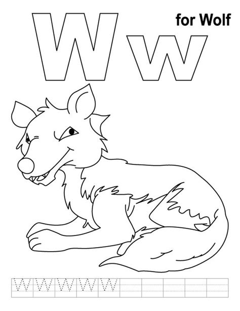 Letter W Coloring Pages Printable by 9 Best Letter W Worksheets Images On Preschool