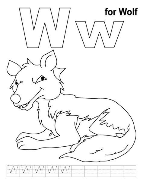 preschool coloring pages letter w 9 best letter w worksheets images on pinterest preschool