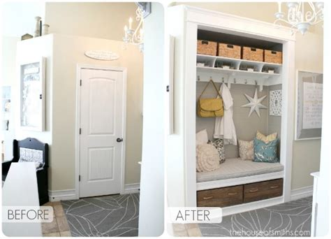 Entryway Closet Ideas by Entryway Closet Transformation Decorating Ideas