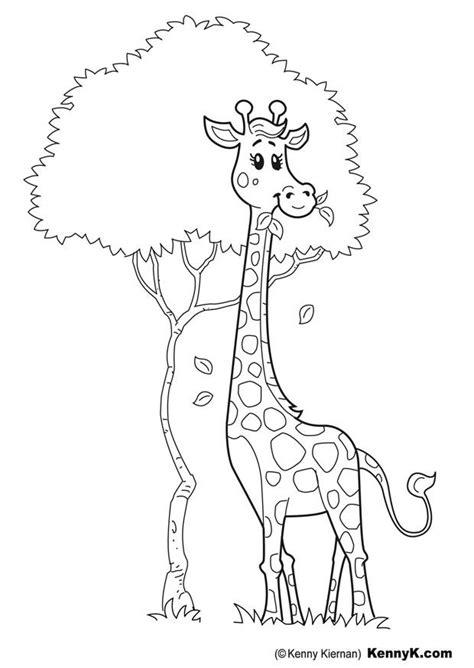 Dessins Gratuits à Colorier - Coloriage Girafe à imprimer