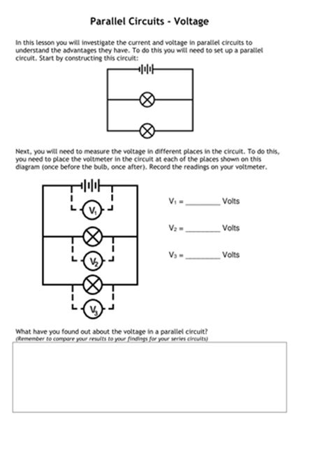 resistors ks3 resource pack electricity series and parallel electric circuits voltage and current ks3 ks4