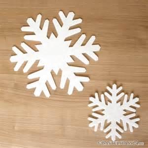 filz dekoration schneeflocken aus festem filz b 17cm ideal f 252 r die