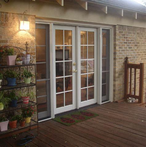 patio door installation in dallas from the window