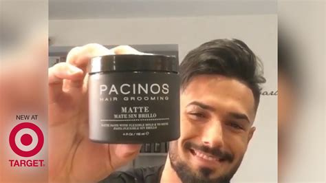 Pomade Pacinos how i style my hair using the pacinos matte paste