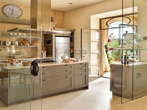 sliding glass door for modern small kitchen with open