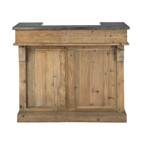 meuble de bar en bois recycl 233 l 120 cm pagnol maisons du monde