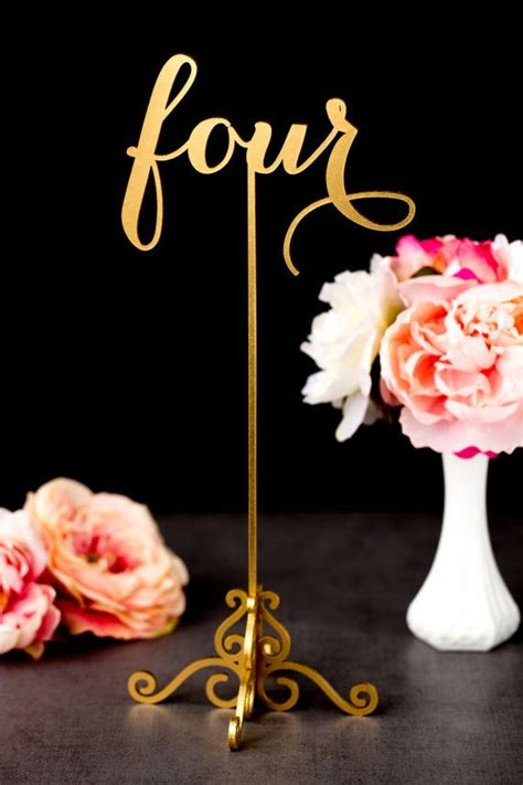 gold wedding table numbers gold wedding table numbers fancy and freestanding with base