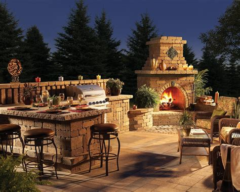Outdoor Kitchen With Fireplace by Home And Garden Fireplace Ideas Living Interior Design