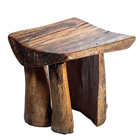handmade rustic tree stump stool for sale at 1stdibs